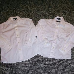 Other - 2 boy's size 6 white button up dress shirts